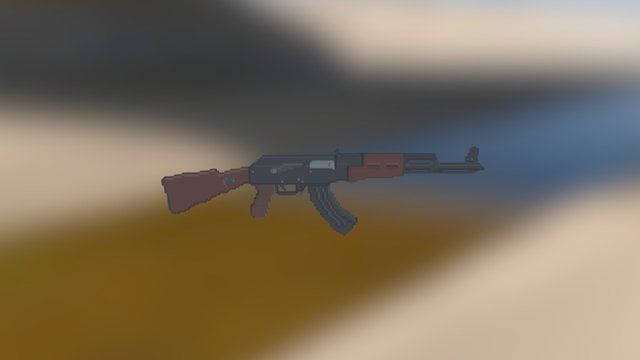 AK47 - Qubicle Test 3D Model