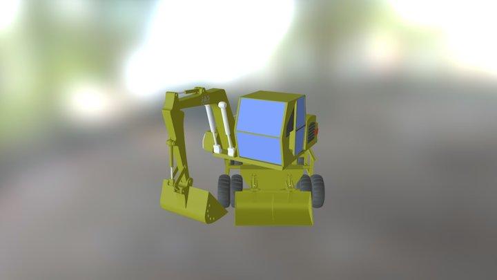 Backhoe 3D Model