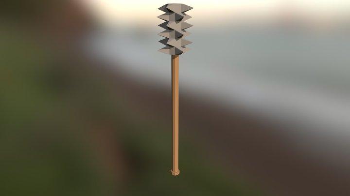 Lowpoly Mace (Practise) 3D Model