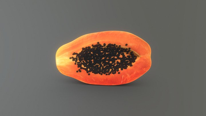 Papaya 3D Model