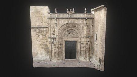 Portada de l'església de Biar (1.0) 3D Model