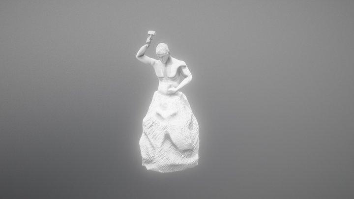 "Sculpture of Rodin ""the Apprentice"" 3D Model"