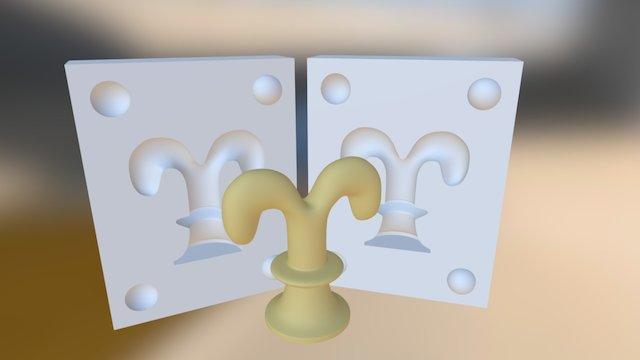 Középkori sakkfigurák bástya figura 3D Model