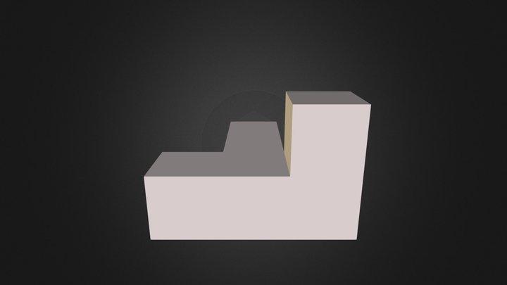 White Puzzle Piece 3D Model