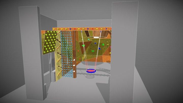 Развлекательный скалодром 3D Model