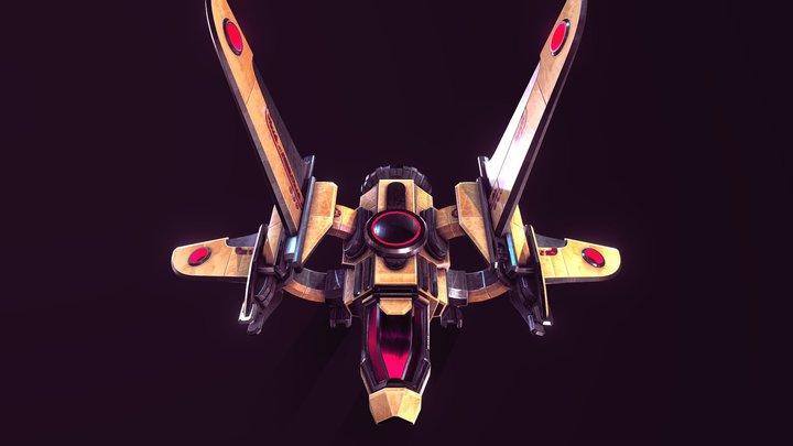 The Waker-Alpha1 Starship 3D Model