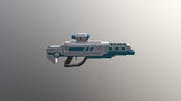Hiatus Status - Corporate Rifle 3D Model