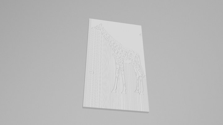 Girafa Contorno 3D Model
