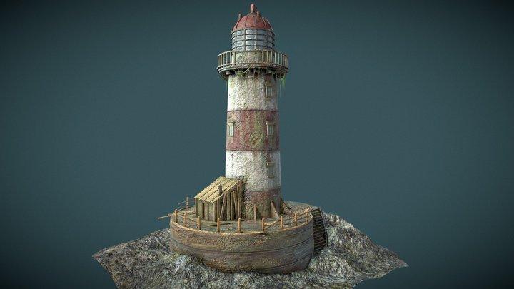 Abandoned Lighthouse 3D Model