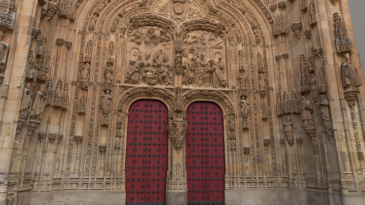 Facade detail of the new cathedral of Salamanca 3D Model