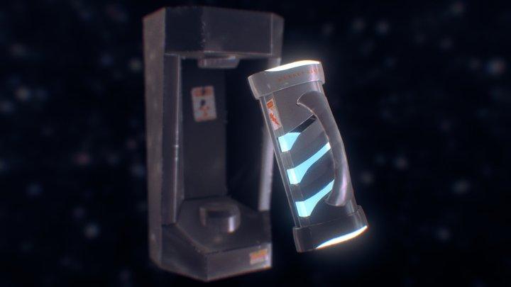 Sci-Fi Energy Canister 3D Model