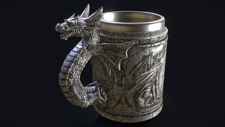 Dragon mug #GDCBeerbustChallenge 3D Model