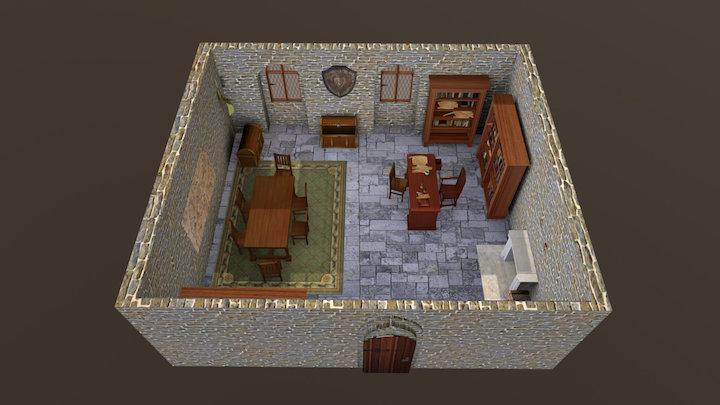 Azzedar's office room 3D Model