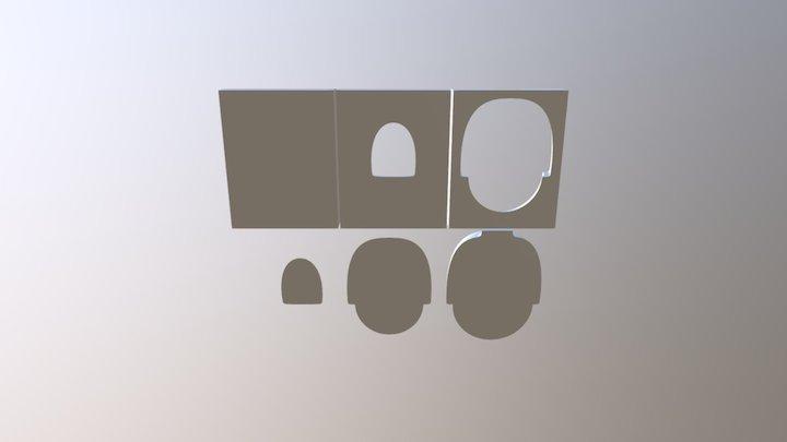 Composite bin mold 3D Model