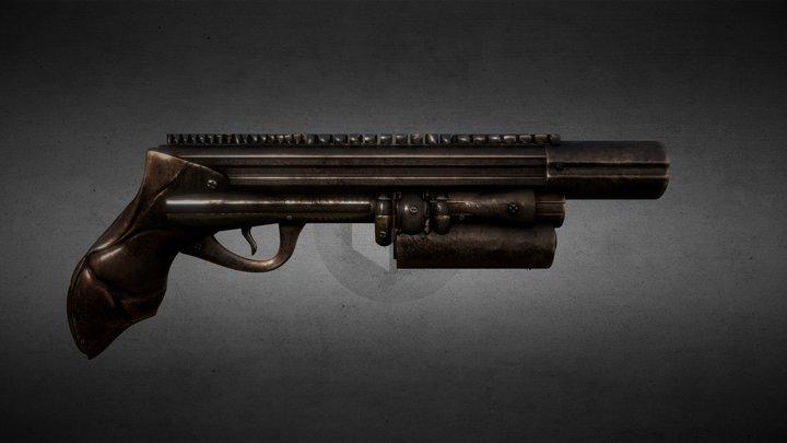 Gun Steampunk 3D Model