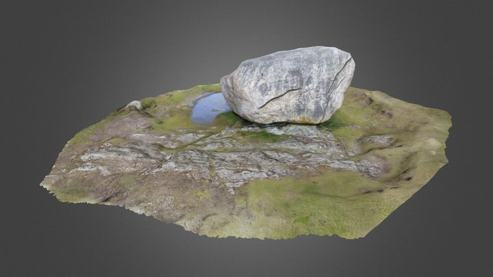 Glacial Erratic. The Cloughmore Stone Rostrover. 3D Model