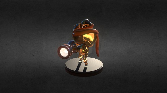 BYU Game 2015: Vanguards - Flame Knight Rig 3D Model