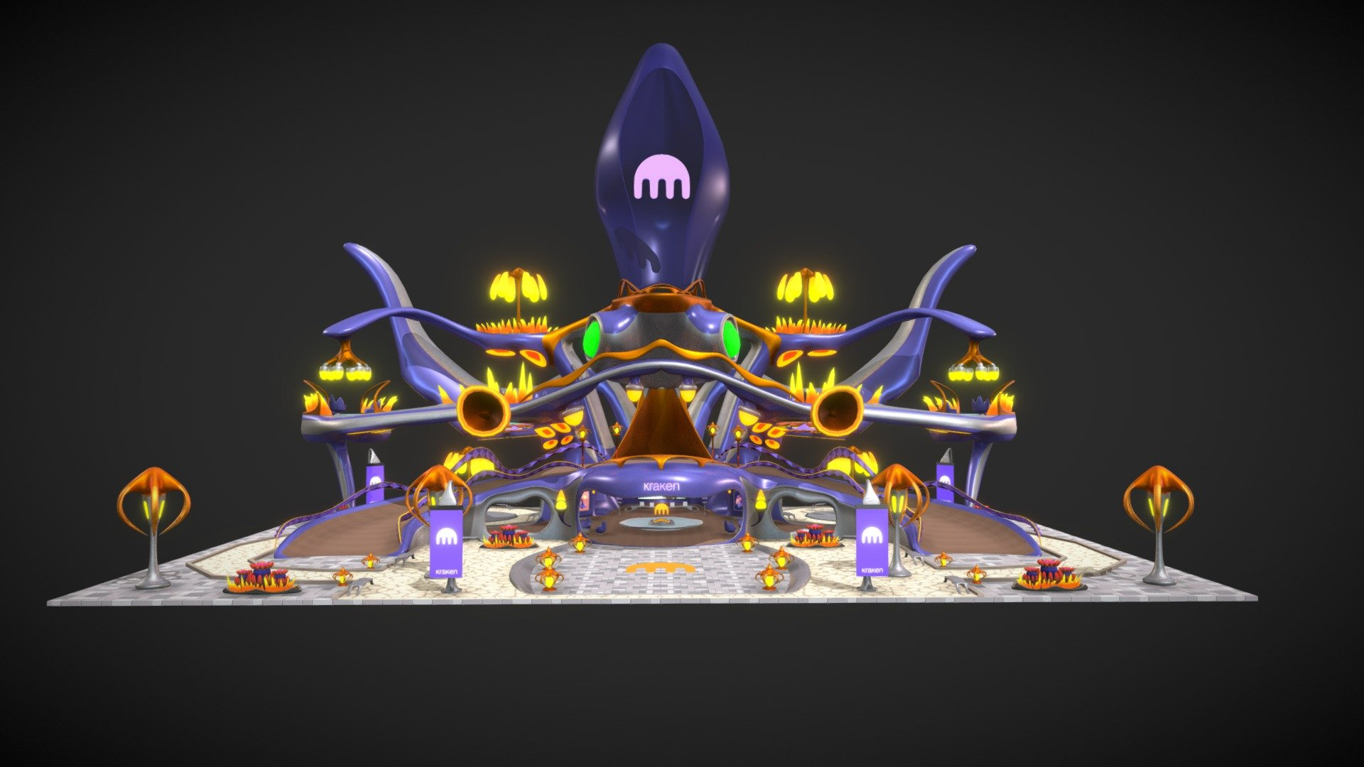 Kraken Exchange HQ - Decentraland - 3D model by Decentraland (@decentraland) [9a81339] - Sketchfab