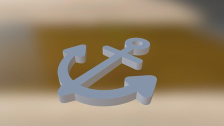 Anchor Keychain 3D Model