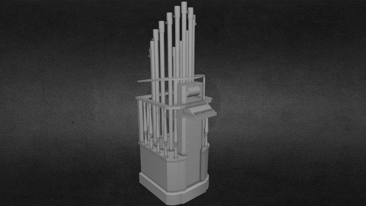 LOW POLY PYROPHONE ORGAN 3D Model