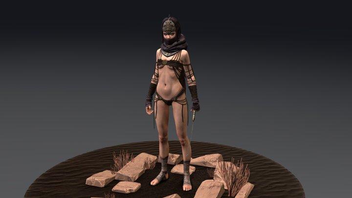 Jaya03-pose-7 Obj 3D Model