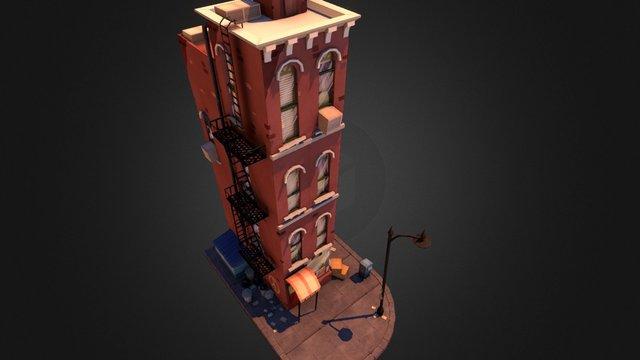 Urban Toon City WIP 3D Model
