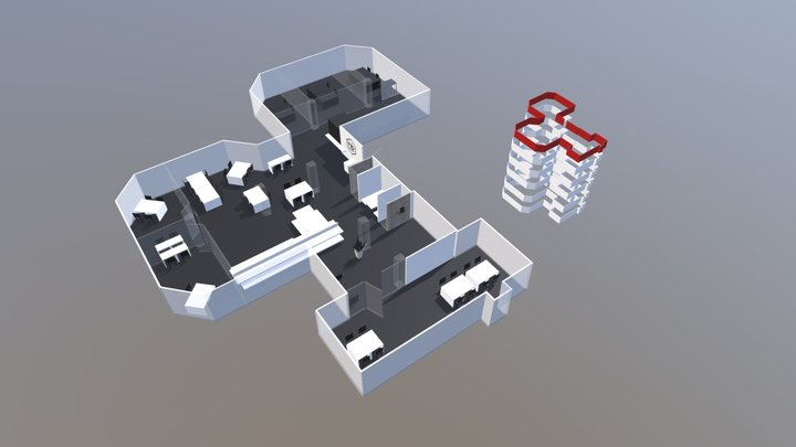 Lab by Capacity layout 3D Model