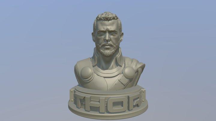 Chris Hemsworth as Thor 3D print model 3D Model