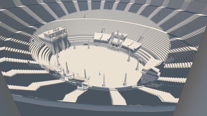 LOW POLY - Coliseum Interior 3D Model