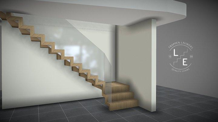 Een zelfdragende trap 3D Model