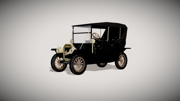 Ford Model T by Rob Mikelsons 3D Model