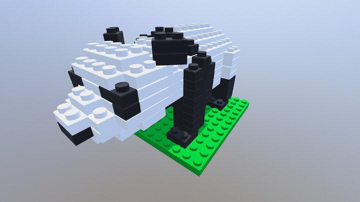 LEGO Panda 3D Model