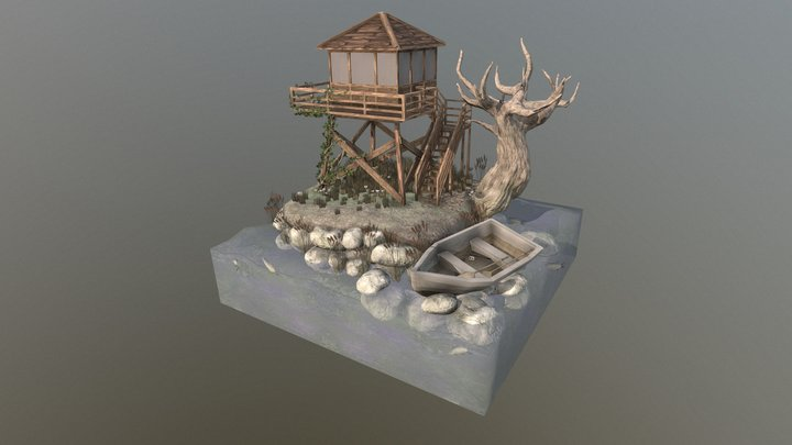 Teeming Towers Diorama 3D Model