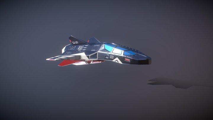 SpaceSHip One 3D Model