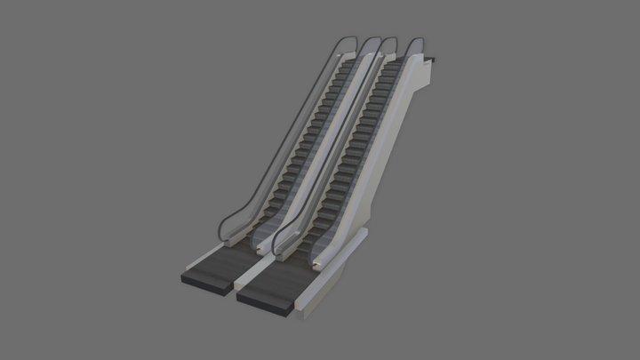 Animated Escalator 3D Model