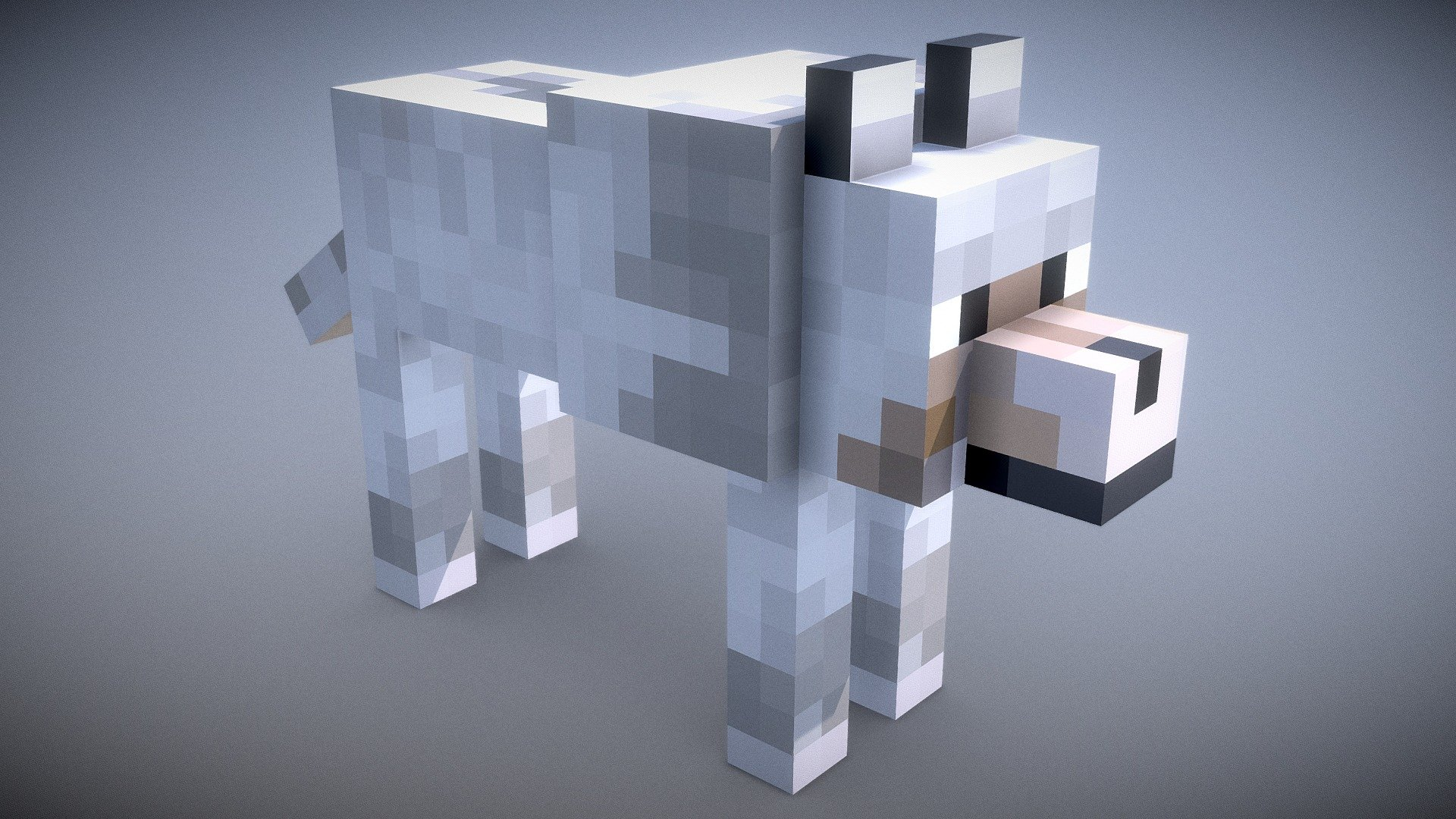 Minecraft - Wolf - Download Free 3D model by Vincent Yanez ...