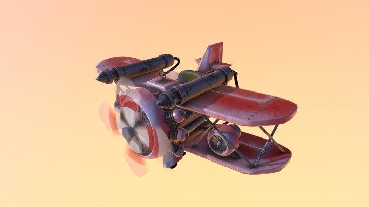 Jiggly Plane 3D Model