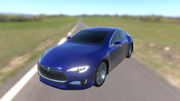 Low Poly Tesla Model S 3D Model
