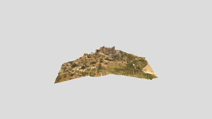 Château d'Aguilar, Aude 3D Model