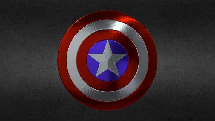 Captain America's Shield 3D Model