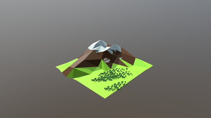Low -Poly Mountain 3D Model