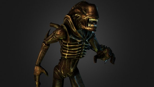 Xenomorph warrior 3D Model