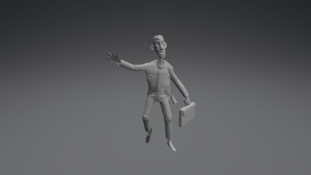The Daydreamer character 3D Model