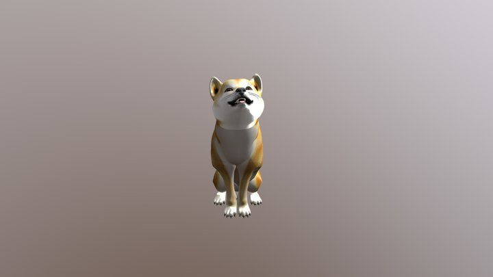 Animated Dog, Shiba Inu 3D Model