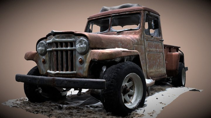 Jeep Willys Pickup 3D Model