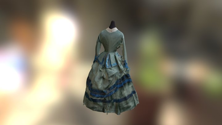 175 Years: Green Dress 3D Model