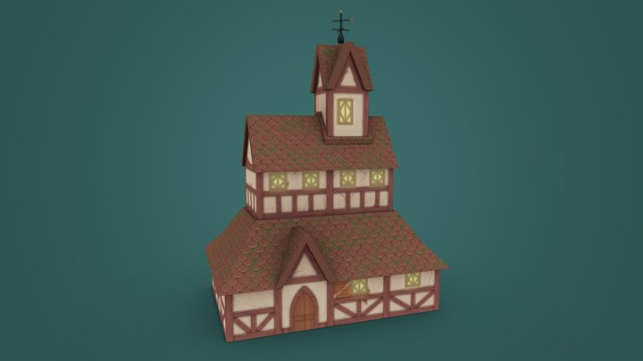 Fantasy Meeting Hall 3D Model