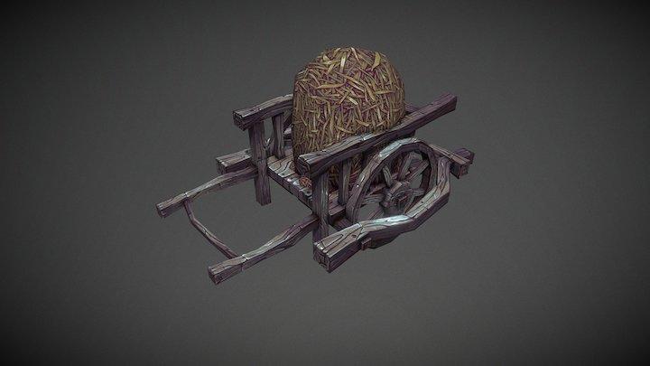 Handpainted Cart 3D Model