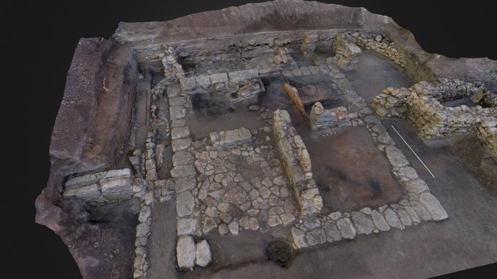 Ortli excavation site (low-poly) 3D Model