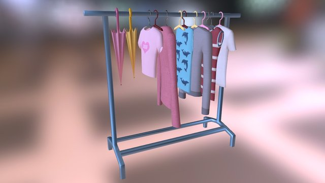 Clothes Rail 3D Model